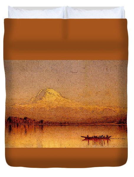 Gifford Sanford Robinson Mount Rainier Bay Of Tacoma Duvet Cover