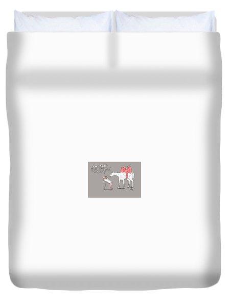 Gift Horse Duvet Cover