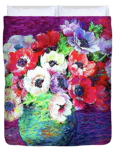 Gift Of Anemones Duvet Cover