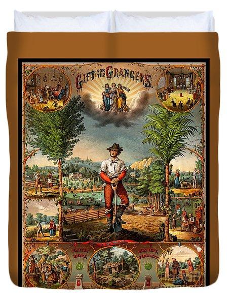 Gift For The Grangers 1873 Victoiran National Grange Agriculture Promotional Art Duvet Cover
