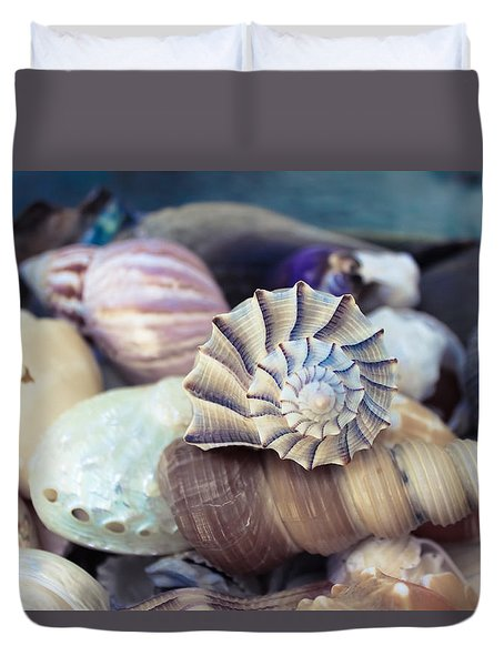 Gifts From The Sea Duvet Cover by Colleen Kammerer