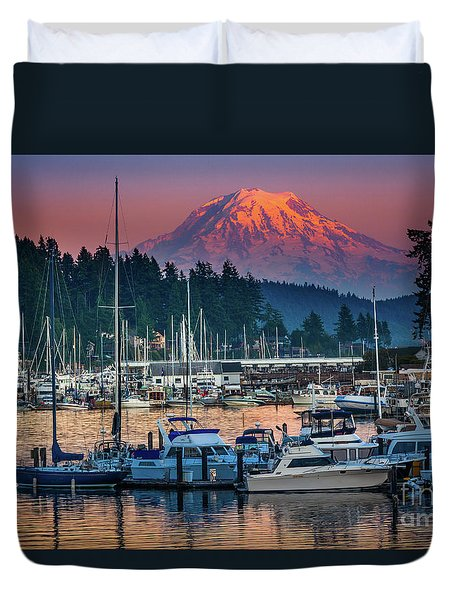 Gig Harbor Dusk Duvet Cover
