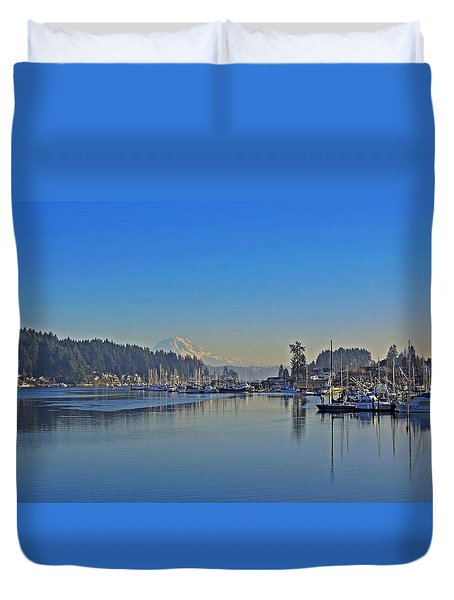 Duvet Cover featuring the photograph Gig Harbor, Wa by Jack Moskovita