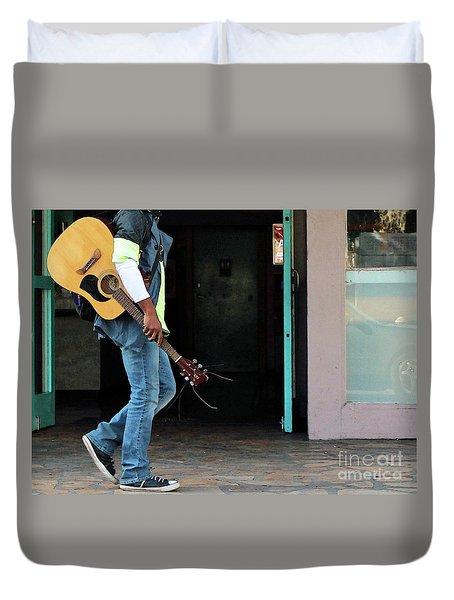 Duvet Cover featuring the photograph Gig Less by Joe Jake Pratt