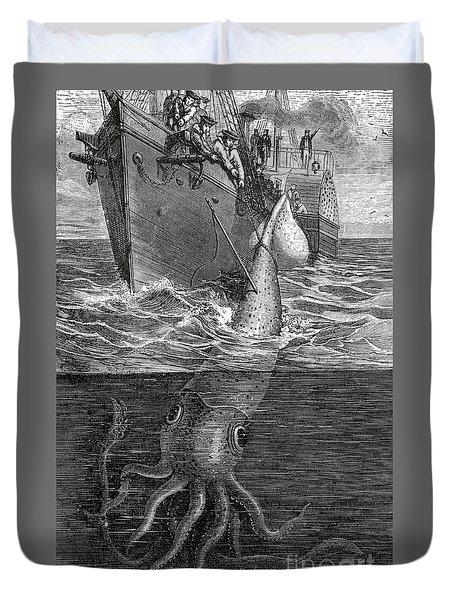 Gigantic Cuttle Fish Duvet Cover