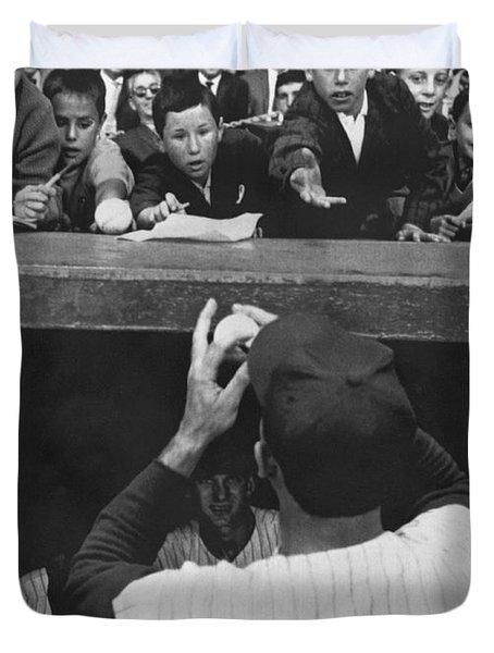 Gil Hodges Baseball Fans Duvet Cover