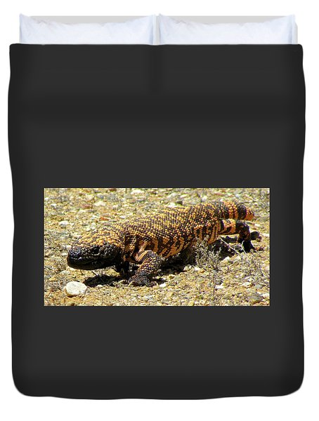 Gila Monster On The Prowl Duvet Cover