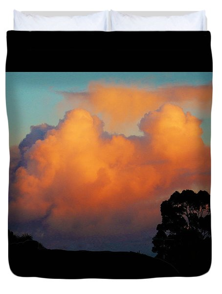 Gilded Dawn Duvet Cover by Mark Blauhoefer