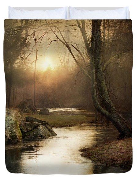 Gilded Woodland Duvet Cover