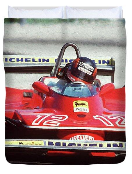 Gilles Villeneuve, Ferrari Legend - 01 Duvet Cover