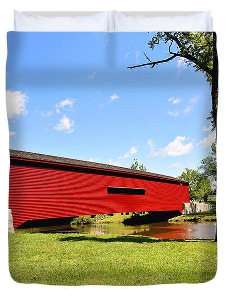 Gilpin's Falls Covered Bridge Duvet Cover