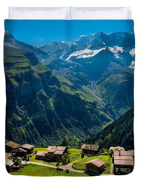Gimmelwald In Swiss Alps - Switzerland Duvet Cover