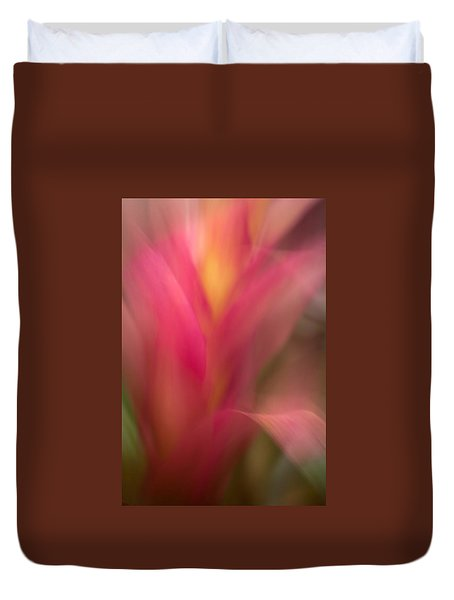 Ginger Flower Blossom Abstract Duvet Cover by Catherine Lau