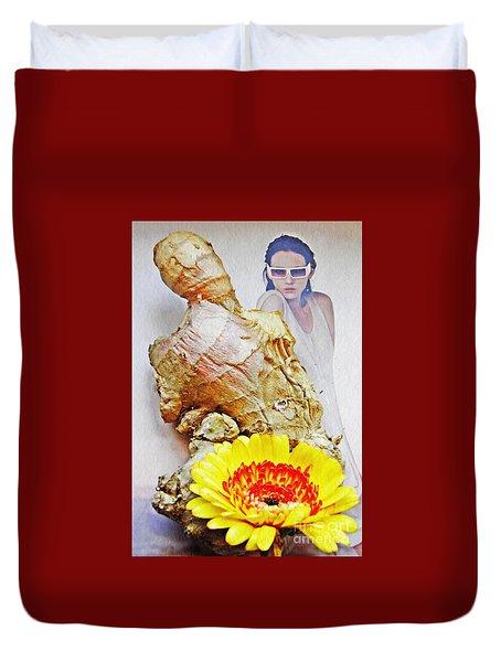 Ginger Man Duvet Cover by Sarah Loft