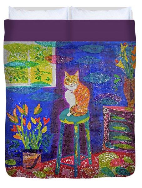 Ginger The Cat Duvet Cover