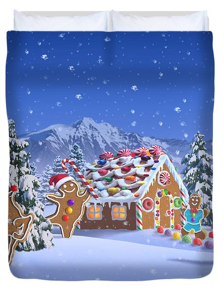 Gingerbread House Duvet Cover