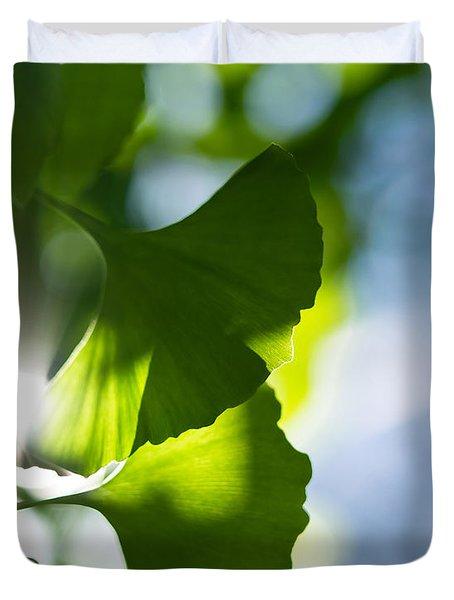 Gingko Leaves In The Sun Duvet Cover