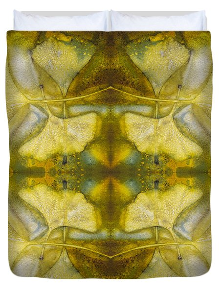 Duvet Cover featuring the photograph Gingko Quad by Joye Ardyn Durham