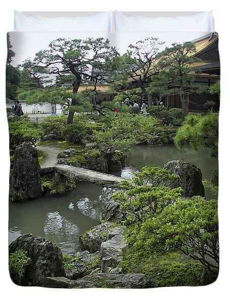 Ginkaku-ji Zen Temple - Kyoto Japan Duvet Cover
