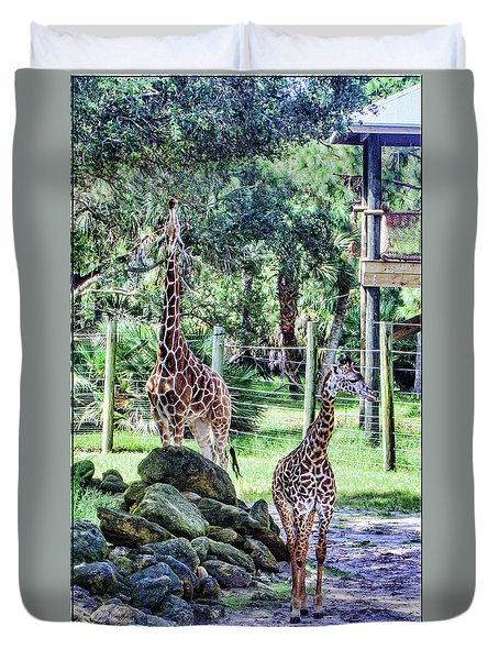 Giraffe Art I Duvet Cover
