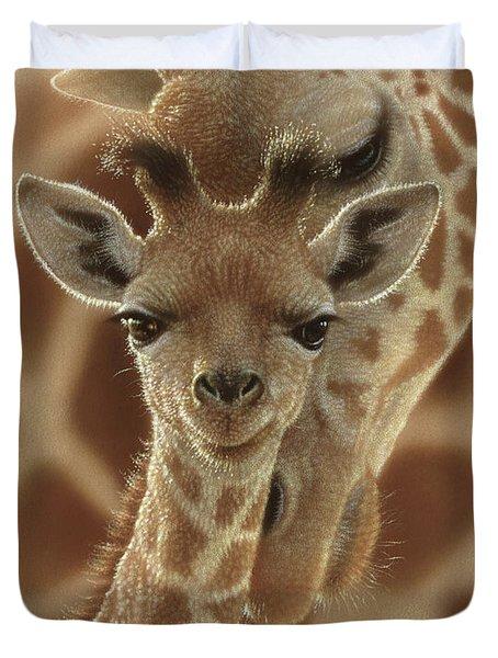 Giraffe Baby - New Born Duvet Cover