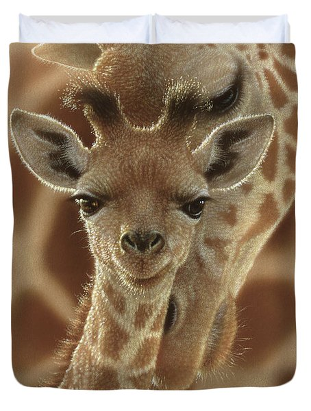 Giraffe Baby - New Born Duvet Cover