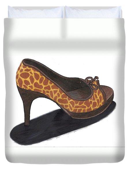 Giraffe Heels Duvet Cover by Jean Haynes