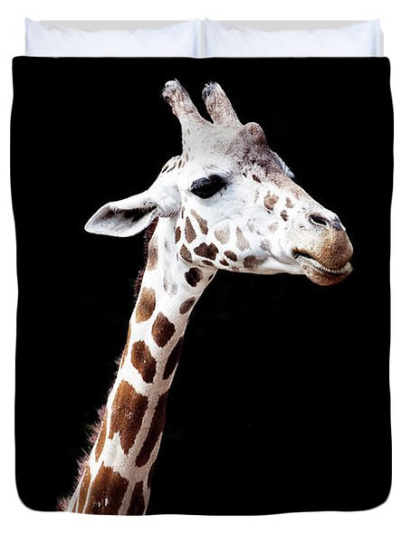 Giraffe Duvet Cover by Lauren Mancke