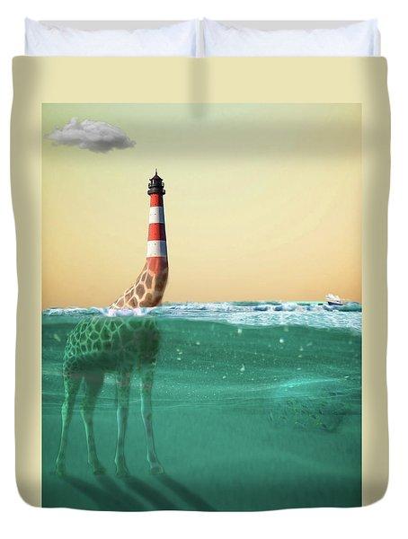 Giraffe Lighthouse Duvet Cover