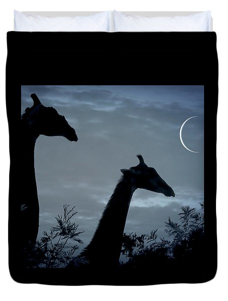 Giraffe Moon  Duvet Cover