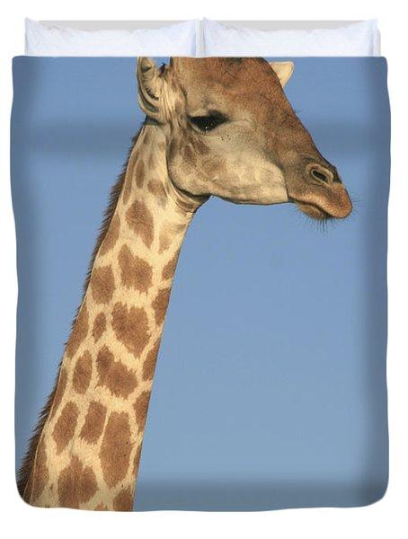 Giraffe Portrait Duvet Cover