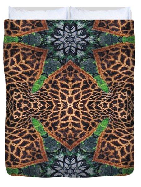 Giraffe Stars Duvet Cover by Maria Watt