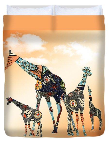 Giraffe Stroll Duvet Cover