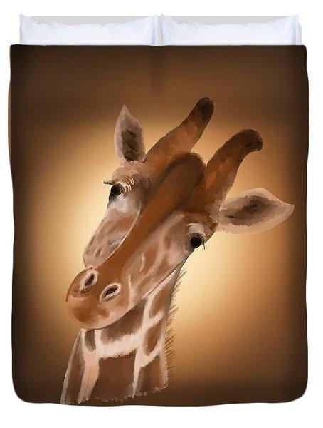 Giraffe Sunset Duvet Cover