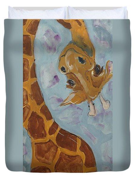 Giraffe Tall Duvet Cover