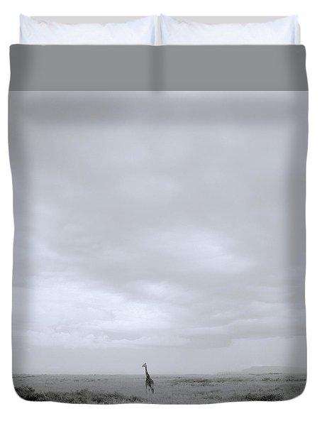 Giraffe Under Big Sky Duvet Cover by Shaun Higson