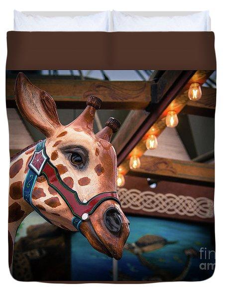 Giraffecarousel Duvet Cover