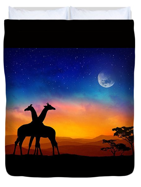 Giraffes Can Dance Duvet Cover
