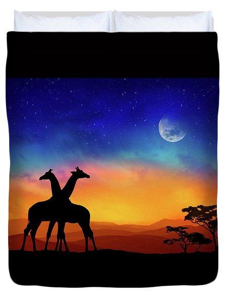 Giraffes Can Dance Duvet Cover