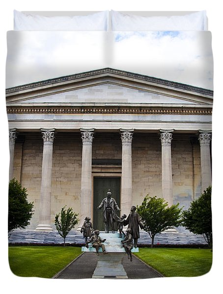 Girard College Philadelphia Duvet Cover by Bill Cannon