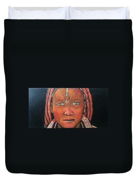 Girl From Africa Duvet Cover by Jenny Pickens