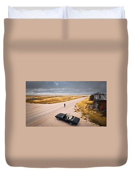 Girl Of The Golden West Duvet Cover
