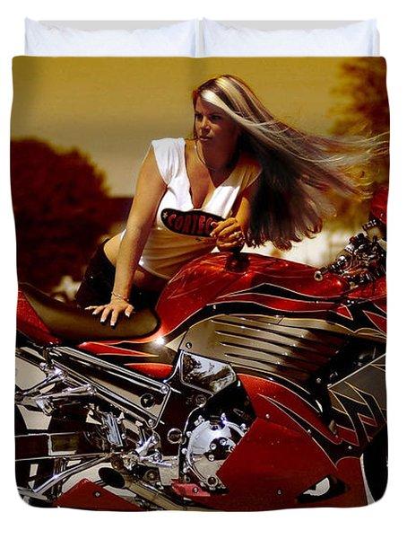 Girl On Fire Duvet Cover