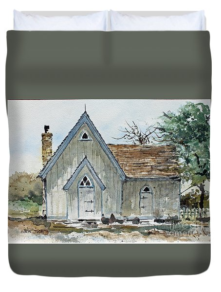 Girl Scout Little House Duvet Cover by Monte Toon