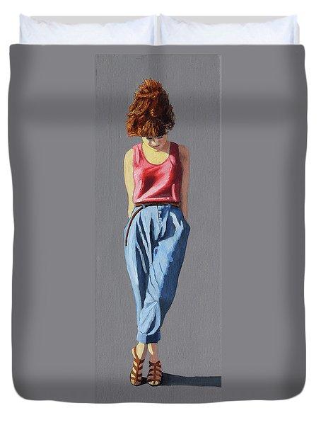 Girl Standing Duvet Cover