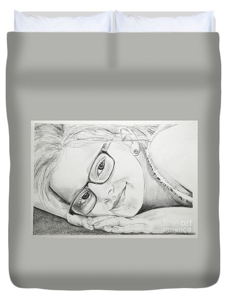 Girl Duvet Cover by Tine Nordbred
