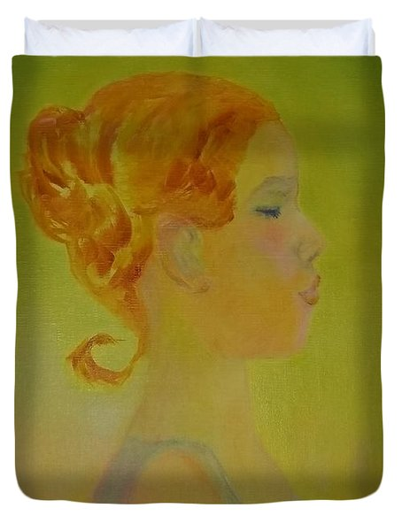 The Girl With The Curl Duvet Cover