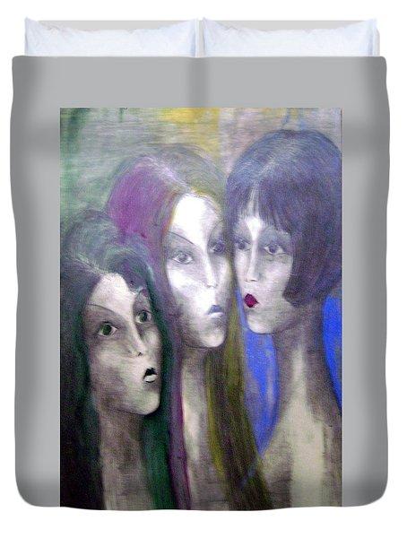 Girl Duvet Cover by Wojtek Kowalski