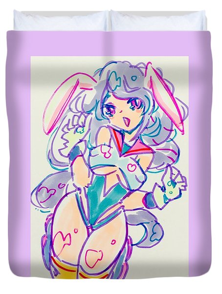Girl02 Duvet Cover