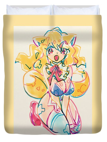Girl03 Duvet Cover